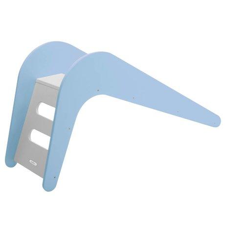 Glissez Blue Whale en bois, bleu, 145x43x68cm