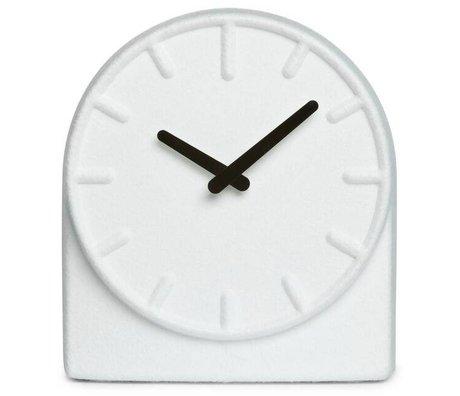 LEFF amsterdam Uhr Felt Two, weiß mit schwarze Zeiger, 19,5x8x21cm