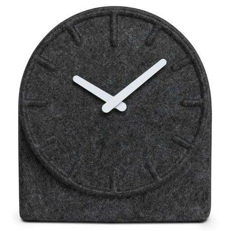 LEFF amsterdam Horloge sentit deux gris avec des mains blanches 19,5x8x21cm