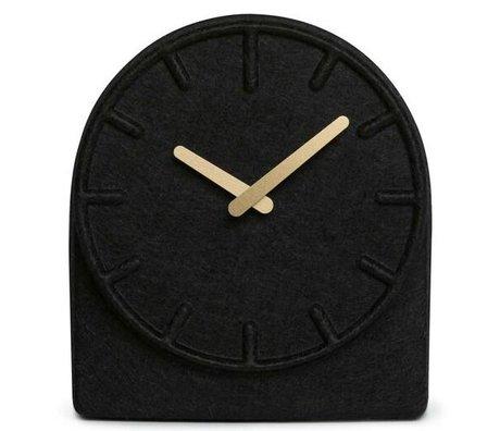LEFF amsterdam Filt To sorte ur med messing hænder 19,5x8x21cm