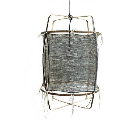Ay Illuminate Hængende lampe med bambus grå silke cashmere dækning ø48.5x72,5cm