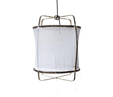 Ay Illuminate Hängelampe mit Bambus, Baumwolle Cover, weiß, Ø42x57cm