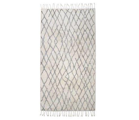 HK-living Stort ternet tæppe mat 90x175cm