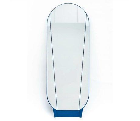 Ontwerpduo Spiegel Split Mirror aus Glas/Metall, blau, 164x61x5cm