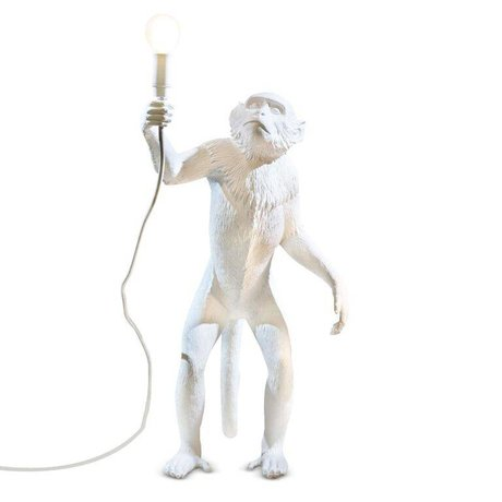 Seletti Lampe de table MONKEY lampadaire Lampresin 46x27,5xh54cm blanc