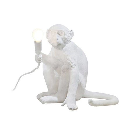 Seletti Table lamp MONKEY lamp sitting Lampresin white 34x30xh32cm