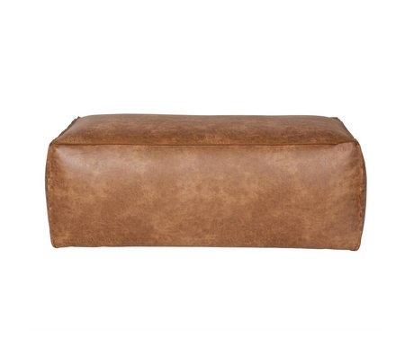 BePureHome Pouf Rodeo cognac pelle marrone 43x120x60cm