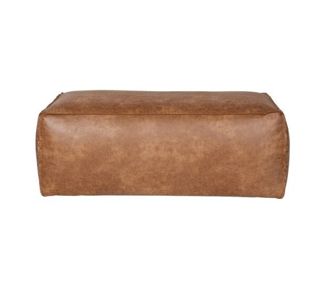 BePureHome Puf Rodeo cognac brun læder 43x120x60cm