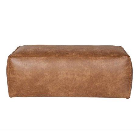 BePureHome Puf Rodeo coñac 43x120x60cm cuero marrón