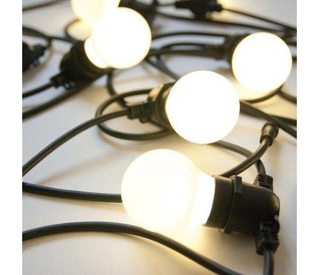 Seletti Lichterkette mit 10 Glühbirnen, schwarz, L14,2m