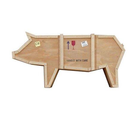 Seletti L'invio di gabinetto animali maiale maiale sloophout 150x44xh76cm