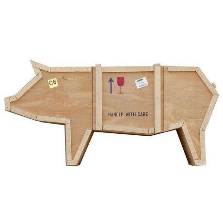 Seletti Sende kabinet Dyr gris PIG sloophout 150x44xh76cm