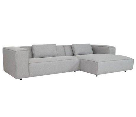 FÉST Couch `Dunbar ', gris clair Sydney91, 2 places / Divan gauche ou à droite