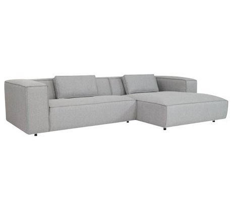 FÉST Couch `Dunbar ', Sydney91 light gray, 2-seater / Divan left or right