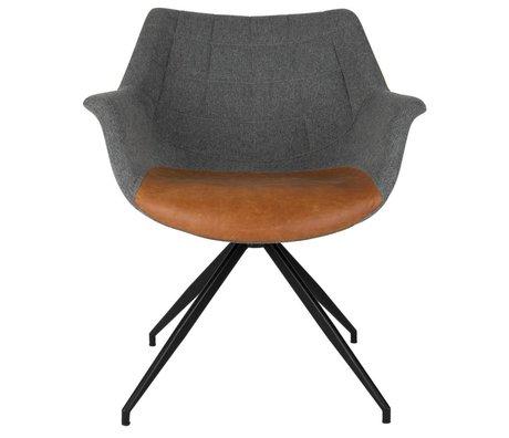 Zuiver Sedia Doulton vintage grigio 67x61x80cm marrone