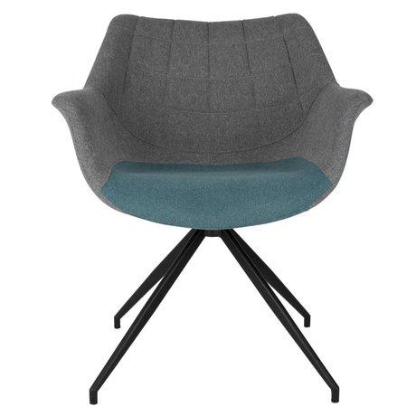Zuiver Spisebordsstol Doulton Vintage blå 67x61x80cm