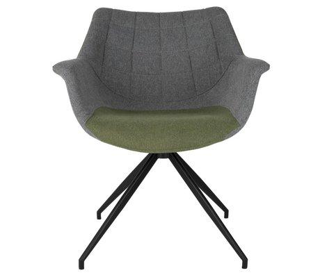Zuiver Chaise Doulton Vintage 67x61x80cm vert