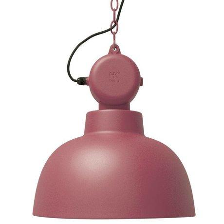 HK-living Lampada a sospensione fabbrica marsala metallo opaco grande Ø50cm