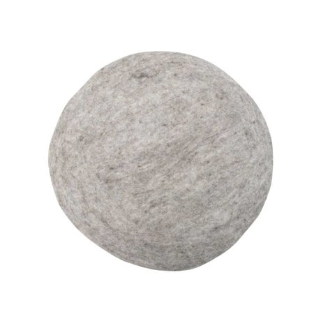 HK-living Cushion Felt Chair Cushion gray Ø35cm