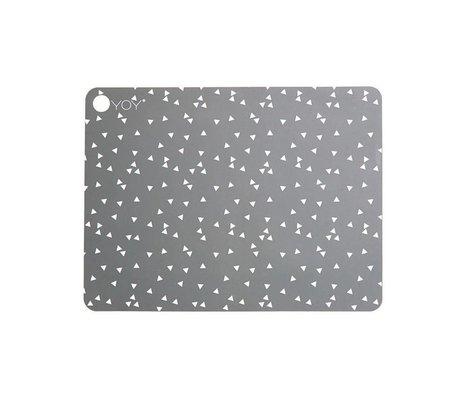 OYOY Placer Ceiling Light Grey grå silikone Sæt af to 45x34x0,15cm