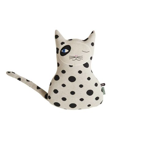 OYOY Pillow Cat Zorro sort 41x27x14 cm