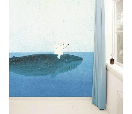 Kek Amsterdam Wallpaper Riding the Whale Multi-carta colorata pile 389,6x280cm