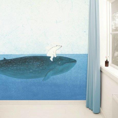 Kek Amsterdam Fond d'écran Riding le 389,6x280cm papier polaire Whale Multicolore