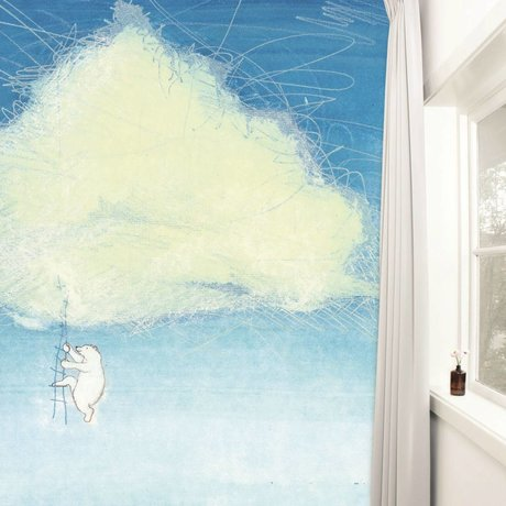 Kek Amsterdam Tapete Climbing the Clouds Mehrfarbig Papiervlies 389,6x280cm