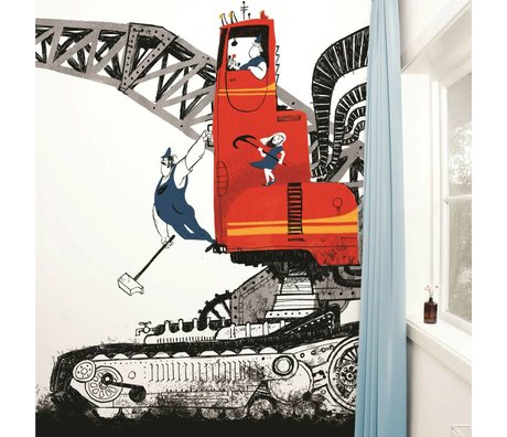 Kek Amsterdam Wrecking Ball wallpaper Multi-colored paper fleece 389,6x280cm