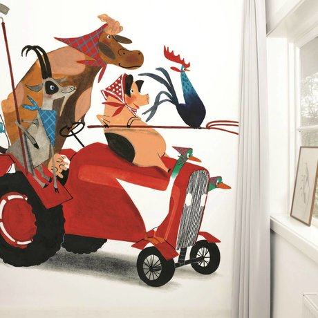 Kek Amsterdam Wallpaper Trattore Race Multi-color carta vello 389,6x280cm