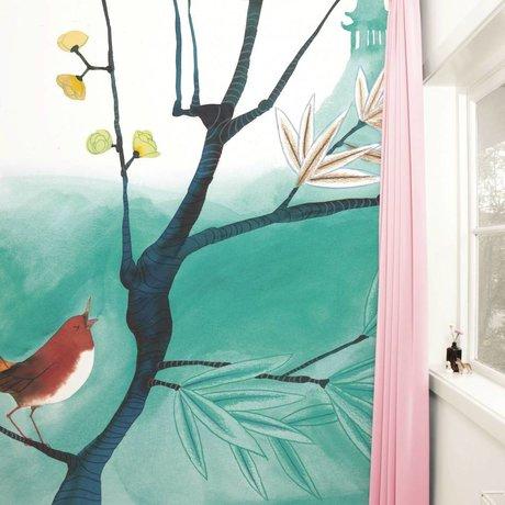 Kek Amsterdam Sfondi Uccello di canto Multi Paperliners 292,2x280cm