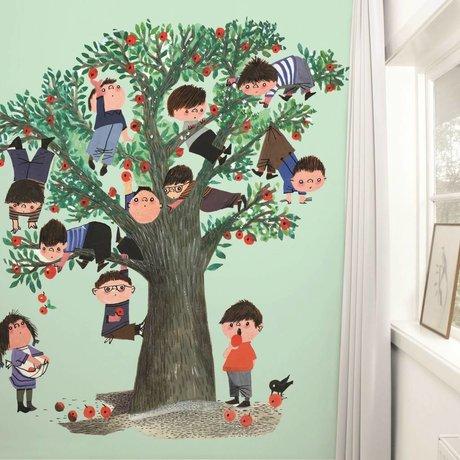 Kek Amsterdam Multicolor árbol Wallpaper Verde Manzana 243,5x280cm papel de vellón