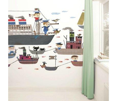 Kek Amsterdam Fond d'écran Holland America Line papier multicolore polaire 389,6x280cm