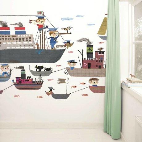 Kek Amsterdam Wallpaper Holland America Line carta multicolore vello 389,6x280cm