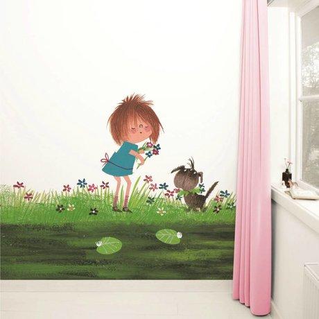 Kek Amsterdam Wallpaper Picking fiori multicolori 292,2x280cm carta pile