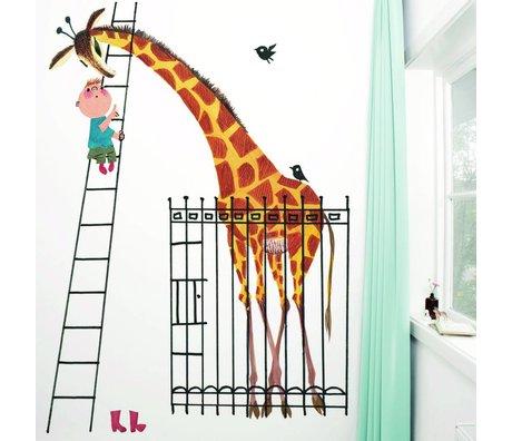 Kek Amsterdam Tapete Giant Giraff Mehrfarbig Papiervlies 243,5x280cm