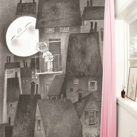 Kek Amsterdam Wallpaper Moonlight gray black Paperliners 194,8x280cm