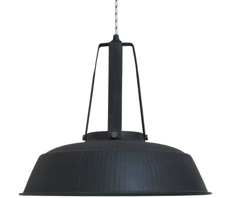 HK-living Hanging laboratorio lampada nera opaca rustico EXTRALARGE 74x74x62cm