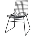 HK-living Dining chair Dining Wire black metal 47x54x86cm