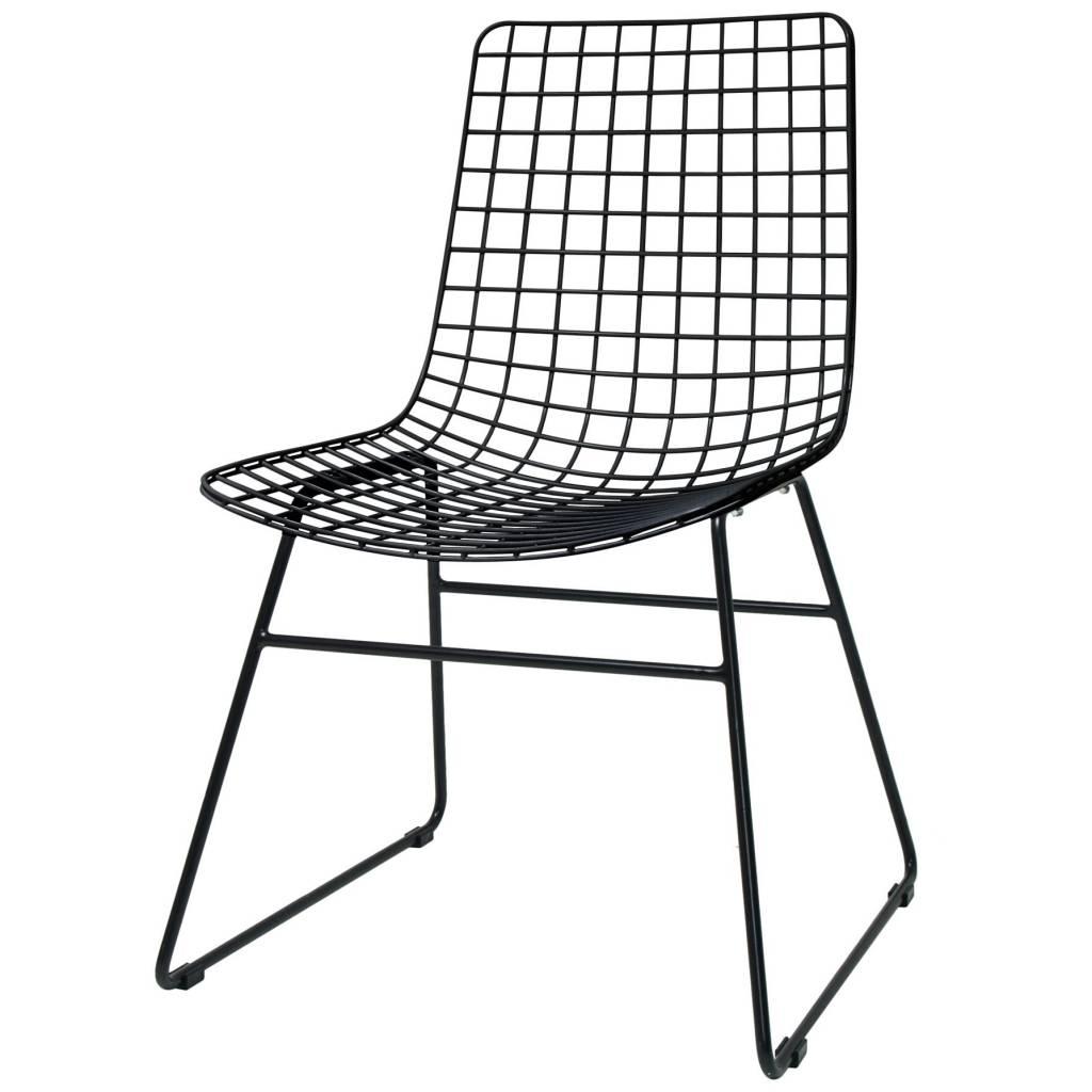 Filo Plastica Per Sedie.Hk Living Sedia Da Pranzo Filo Di Metallo Nero 47x54x86cm