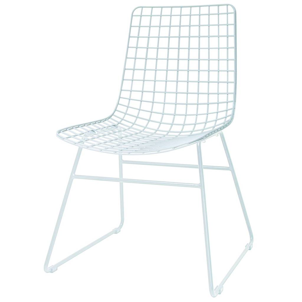 Hk Living Dining Chair Wire White Metal 47x54x86cm