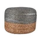 Housedoctor Puf cáñamo yute natural de plata de color marrón 45xh35cm