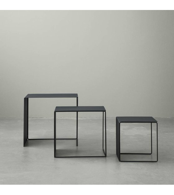 Prime Ferm Living Coffee Table Set Of Three Black Metal Gmtry Best Dining Table And Chair Ideas Images Gmtryco