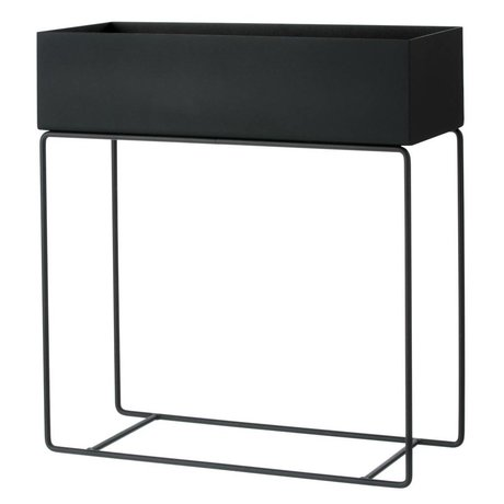 Ferm Living Box 60x25x65cm for plant black metal