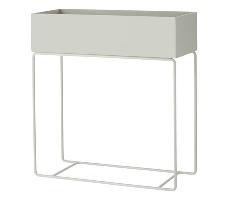 Ferm Living 60x25x65cm caja de metal gris planta