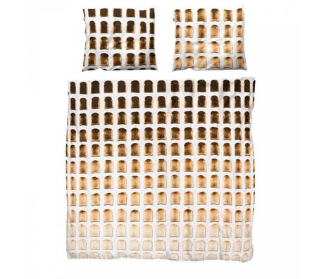 Snurk Ropa de algodón colcha 140x200x220cm tostadas incluyendo 1x 60x70cm funda de almohada