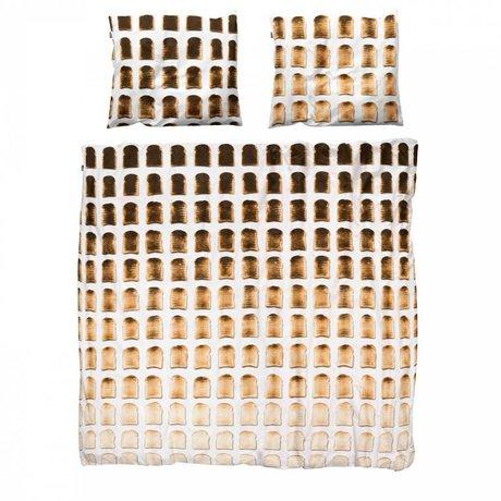 Snurk Linen sengetæppe toast bomuld 260x200x220cm herunder 2x pudebetræk 60x70cm