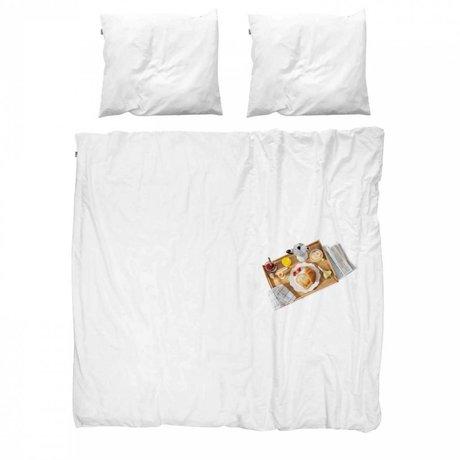 Snurk Literie couvre-lit en coton Petit déjeuner inclus 140x200x220cm 1x taie d'oreiller 60x70cm