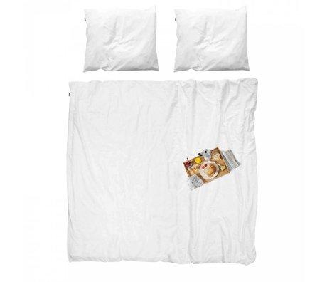 Snurk Literie couvre-lit en coton Petit déjeuner inclus 260x200x220cm 2x taie d'oreiller 60x70cm
