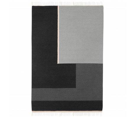 Ferm Living Carpet Kelim section gray large 160x250cm